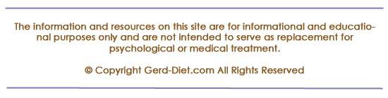 Disclaimer for gerd-diet.com
