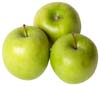 GERD diet: Three green apples