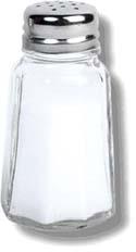 GERD diet: salt shaker.